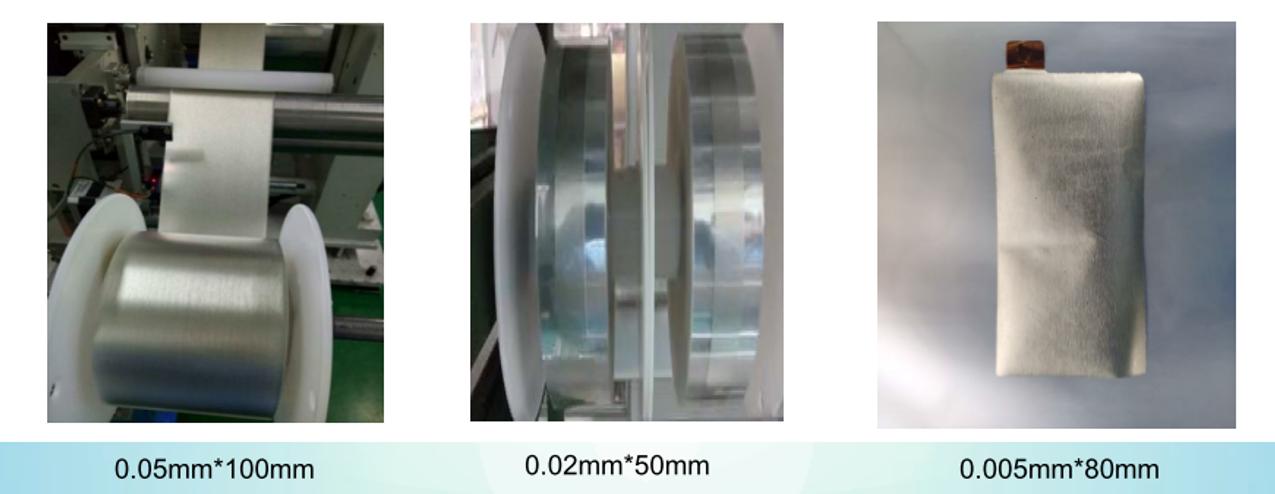 リチウム金属箔、リチウム金属銅箔クラッド集電箔